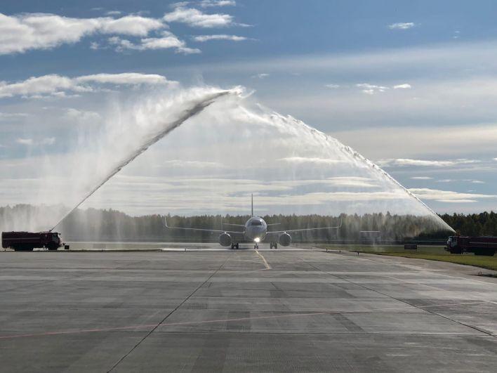 Тобольский аэропорт принял первый борт из Москвы, 24 сентября - 2021.