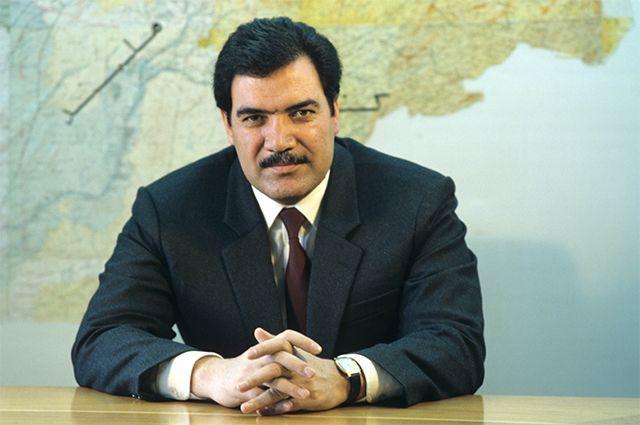 Мохаммад Наджибулла, президент Республики Афганистан, 1988 год.