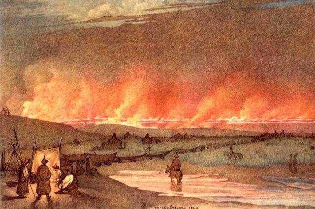 Картина Тараса Шевченко «Пожар в степи», 1848 год.