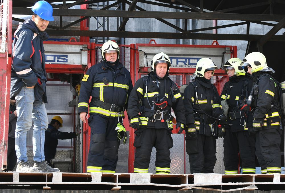 Во время пожарно-тактический учений в строящейся башне Capital Towers Московского международного делового центра «Москва-Сити» (ММДЦ)