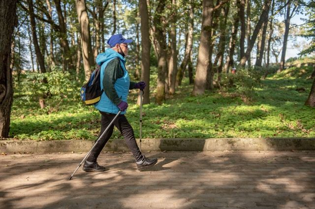 Скандинавская ходьба - самое «модное» занятие у пенсионеров.