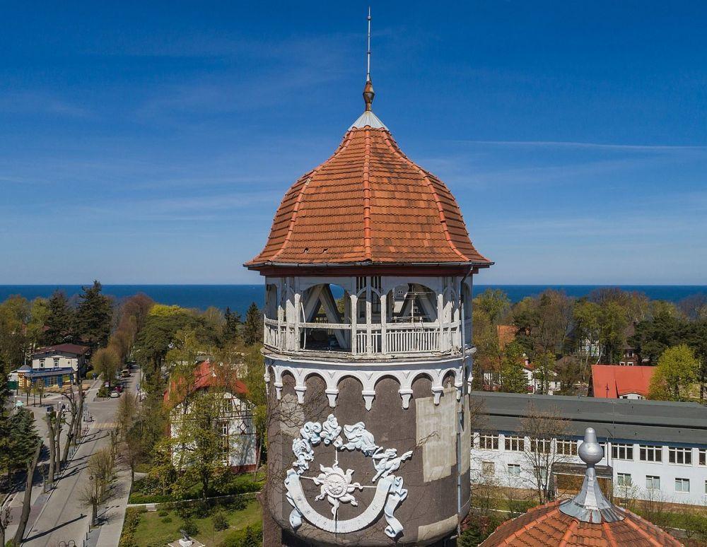 Архитектурный символ курортного города Светлогорска — башня водолечебницы, построенная по проекту архитектора Отто Вальтера Куккука