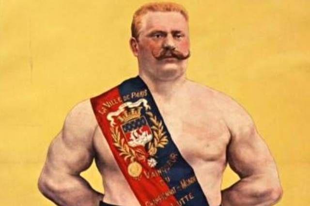 Плакат с изображением Ивана Поддубного, 1909 год.
