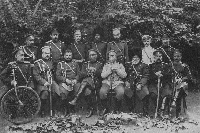 Штаб 71-й пехотной  дивизии, в котором Дмитрий Надёжный служил старшим адъютантом.