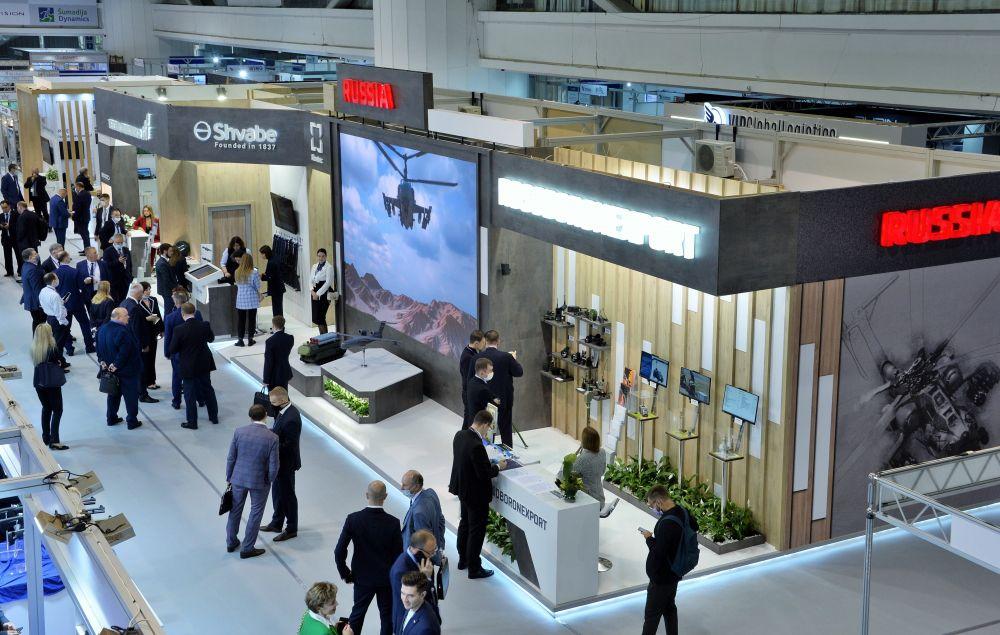 Российская экспозиция на международной выставке вооружения и военной техники PARTNER-2021 в Белграде
