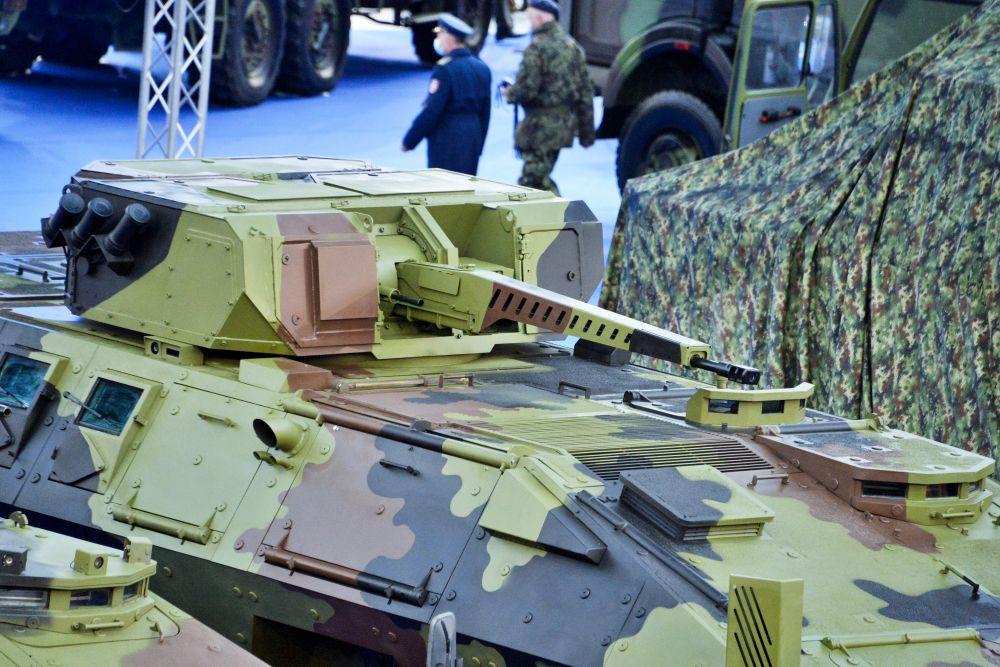 30 мм дистанционно управляемый боевой модуль 32В01, разработанный ЦНИИ «Буревестник»