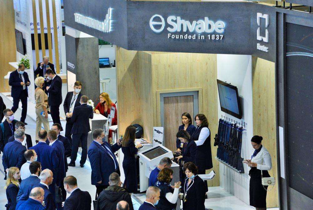 Стенд компании «Швабе» на международной выставке вооружения и военной техники PARTNER-2021 в Белграде