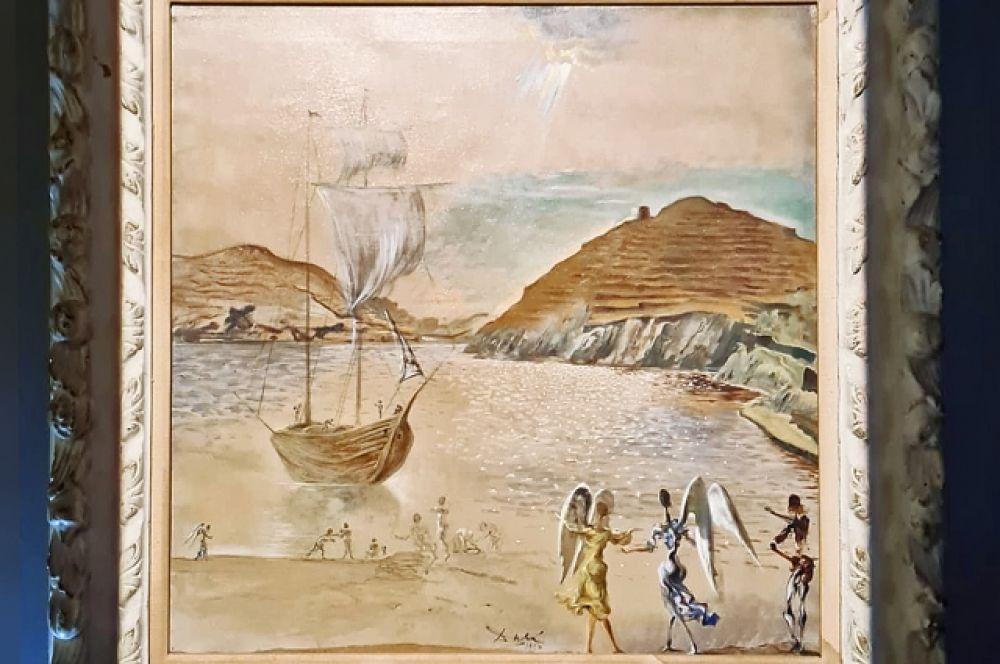 «Пейзаж Порт-Льигата со знакомыми ангелами и рыбаками» (1950).