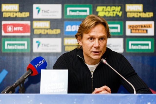 В. Карпин, главный тренер сборной России по футболу.