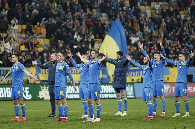 Сборная Украины по футболу после матча с Боснией и Герцеговиной.