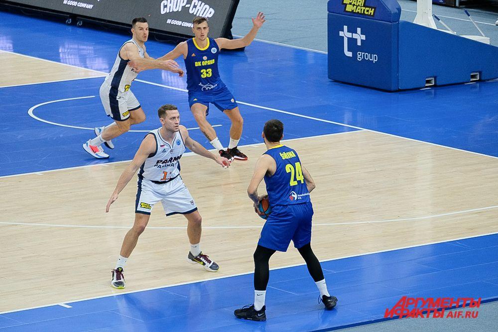 Баскетбольный матч «Парма-Париматч» - «Опава» в Перми.